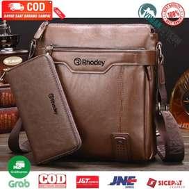 15036 Rhodey Tas Selempang Messenger Crossbody Bag Pria dengan Dompet