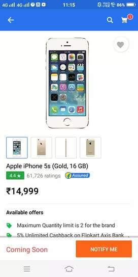IPHONE 5s 16 gb golden