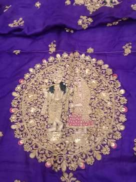 Gold ambroidery duppata