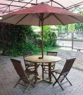 Kursi set meja payung cafe, vila, resto, taman, tpat wisata, outdoor