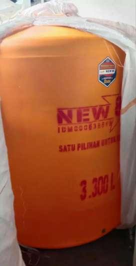 Tandon air 1000 liter bahan plastik tiga lapis toren 2000