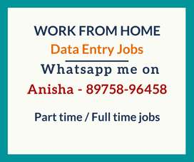 Work from home. Data entry jobs. Earn monthly 30k in your free time