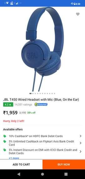 Headphones ( JBL T450 )