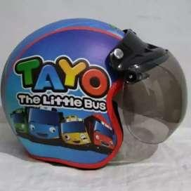 Helm Anak Bogo Karakter Tayo - Hello Kitty - Little Pony - Spiderman