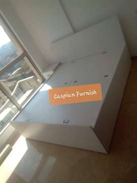 26.10 New prime white color bed with storage