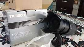 Tamron 18-200mm vc lens with complete box  (Nikon mount )