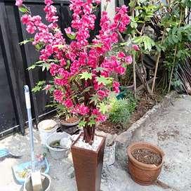 Penjualan Pohon Sakura Bunga Plastik Artificial