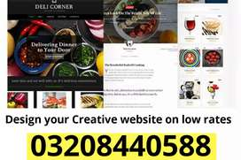 Creative Website Design for your business at less price