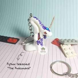 Gantungan Kunci Lego Ninjago Minifigure Pythor (bleach) The Anacondrai