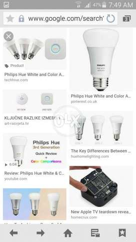 Philps hue white and color bulb