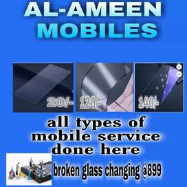 All types of tempered glass