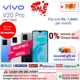 Vivo v20 pro 5g now available on 18 months no cost Emi at N4U
