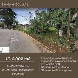 Dijual Tanah Tepi Jalan Raya Beringin Semarang dibawah harga pasar
