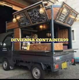 FOOD TRUCK BISNIS BERJALAN BOOTH KAYU BOOTH CAFE BOOTH CONTAINER