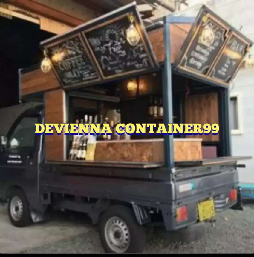 FOOD TRUCK BISNIS BERJALAN BOOTH KAYU BOOTH CAFE BOOTH CONTAINER 0