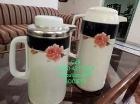 Two Double-Wall Insulated Vacuum Flask  Water Bottle Thermos