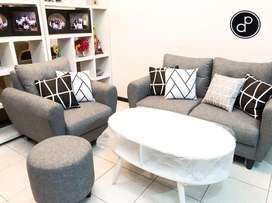 Sofa Scandinavian Grey Modern Minimalis