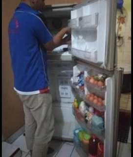 Servis kulkas, AC,mesin cuci,pompa air,dll