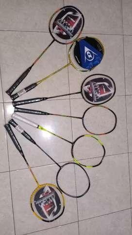 Badminton raket lining banyak bonus bulutangkis kock bulu