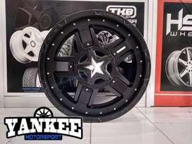 Cicil Velg Mobil DP 10% HSR Wheel RASTA Ring 20 PCD 6X139,7 Black