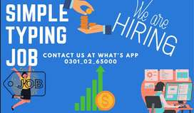 SIMPLE TYPING JOB AVAILABLE