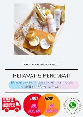 Sepaket Skin Care Muka Rinna diazella Skincare Aman Tanpa Merkuri