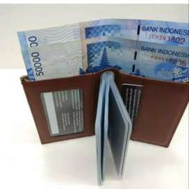 Dompet Kartu Card Holder Coklat Cokelat Brown