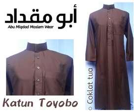 Busana muslim jubah bahan toyobo