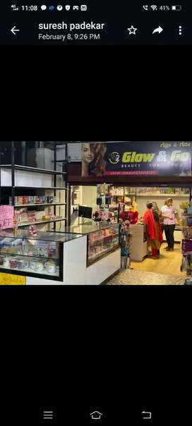 Cosmetic shop & ladies parlour for sale
