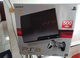 PS3 Slim terbaik ISTIMEWA hardisk 500 dan 2 Stik bnyk pilihan game