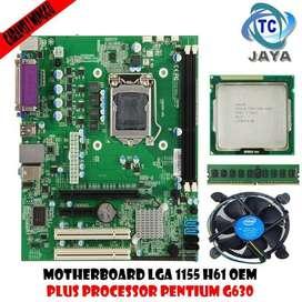 Mobo LGA 1155 H61 OEM Plus Processor Intel Pentium G630 Dan RAM 2gb