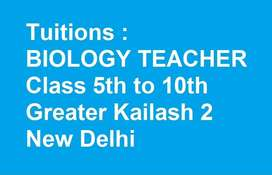 Female Exp Tuition BIOLOGY Teacher GK 2 N.D Available Convent Educated