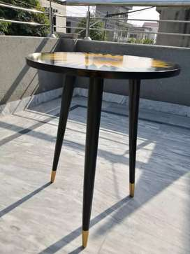 Hand painted tripod table