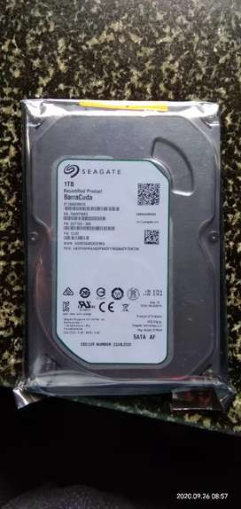 Seagate hardisk 1tb new pack