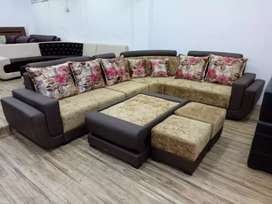 EMI available from bajaj finance 9 seater sofa with center table