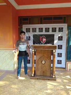 Jual mimbar masjid dan podium musola