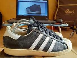Sepatu Adidas Superstar Leather Black