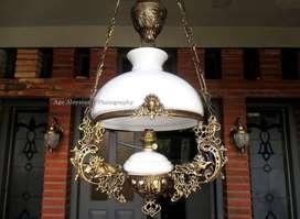 lampu gantung hias antik repro lampu kerek betawi lawasan