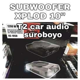 """Subwoofer aktif XPLOD 10"""" bonus tweeter dome"""