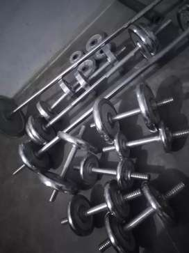 Gym equipments for sale pindi rate 250 pr kg crome plates