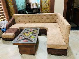 Beautiful 5 seater L shape sofa can be used for dine In