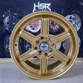 velg mobil baru kediri MINAS FC HSR R16X7 H8X100-114,3 ET42 GOLD