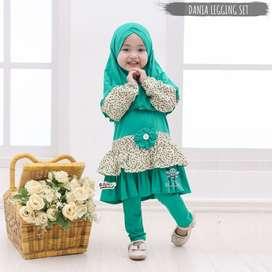 Dania legging set - setelan baju muslim anak - fashion muslim anak