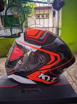 KYT TT Course Overtech Black Orange Size M