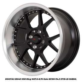 velg racing HSR R16X75/875 H8X100-114,3 ET35/25 SMB/ML