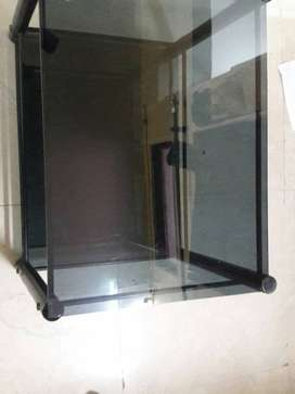 wrought iron toughened glass center table
