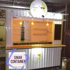 Booth container cafe container coffee shop booth minuman roda usaha