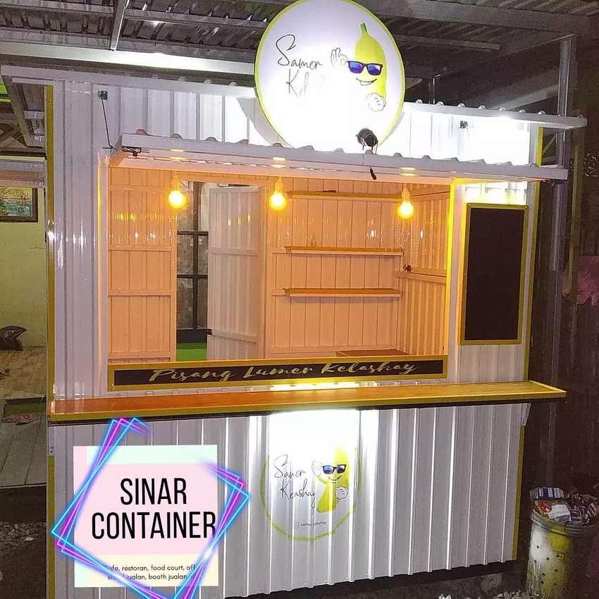 Booth container cafe container coffee shop booth minuman roda usaha 0