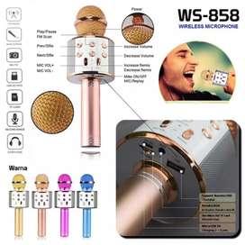 Mic Smule Karaoke  Speaker Bluetooth Wireless Ws 858