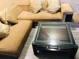 L-Shaped Sofa set with centre table